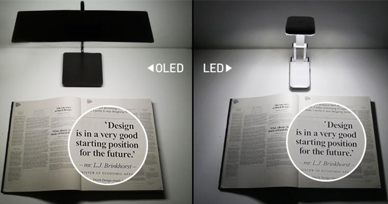 led与oled灯光下的清晰度对比图