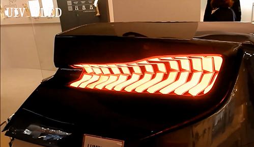 UIV OLED照明柔性oled光源在汽车尾灯上的应用