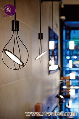 OLED吊灯可旋转轻薄欧美式吊灯圆形时尚可定制客厅吊灯OLED餐吊灯